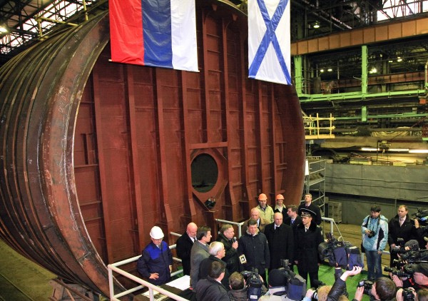 "Solemn ceremony of conventional submarine (SSK) B-237 ""Rostov-on-Don"" was held on November 21, 2011 in the shipyard of ""Admiralty Shipyards"". The ceremony was attended by members of the Russian government, the administration of St. Petersburg Admiralty Shipyards leadership, representatives of the designer and the customer - CDB ME ""Rubin"" and the Russian Navy."