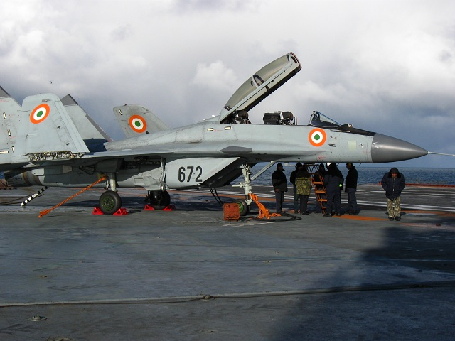 "The Indian Navy has commissioned its first squadron of MiG-29K/KUB shipborne fighters, dubbed the ""Black Panthers,"" a MiG spokesperson in India said on Saturday. The ceremony at an airbase in Dabolim, in the state of Goa on India's west coast, was attended by India's Defense Minister A K Antony, Chief of Naval Staff Admiral D K Joshi and MiG Director-General Sergei Korotkov."