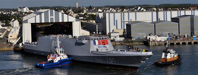 French shipbuilder DCNS has launched Morocco's first and only FREMM frigate. The FREMM vessel will be delivered in 2013.The launch took place at DCNS's Lorient shipyard yesterday in the presence of senior Moroccan and French officials, including Admiral Laghmari, Inspector General of the Royal Moroccan Navy, Admiral Verwaerde of the French Navy and Patrick Boissier, Chairman & CEO of DCNS.