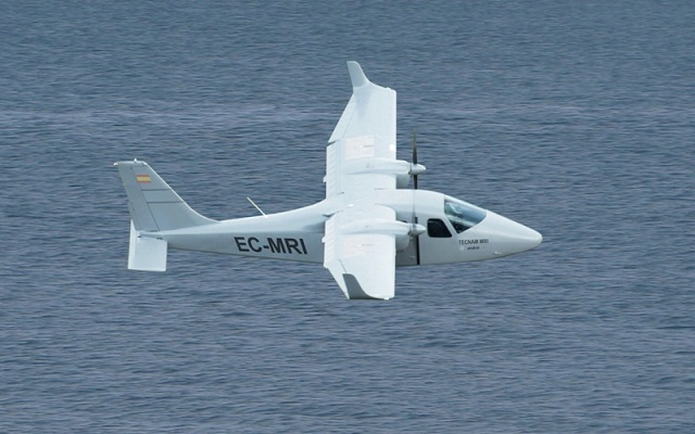 The company collaborates with Tecnam, Selex Galileo, FLIR Systems and Airborne Technologies in this project. The objective is to offer a solution with the best operation/surveillance capacity cost ratio. It will be ready to enter service in 2012 and will have the capacity to guard maritime areas located from 50 to 200 miles offshored.