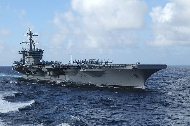 "A second US aircraft carrier has arrived in the Gulf region, the Pentagon said , calling the move ""routine"" and denying any link to mounting tensions with Iran. Backed by a cruiser, destroyer and with almost 80 planes and helicopters on board, the USS Carl Vinson carrier strike group ""arrived in the US 5th Fleet area of responsibility (AOR)"" on January 9,"" a Fifth Fleet statement said."