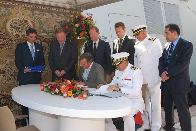 "On 8 September 2012, the SIGMA Class Frigate, Allal Ben Abdellah, built by Damen Schelde Naval Shipbuilding (DSNS) in Vlissingen, was transferred to the Royal Moroccan Navy. For this occasion DSNS had the unique opportunity to let the ceremony take place in Rotterdam, during the 35th edition of the ""World Port Days""."