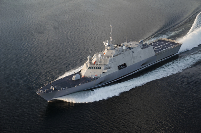 USS Fort Worth (LCS 3) commissioned at the Port of Galveston in Galveston, Texas, Saturday, Sept. 22. The ship was officially placed in service by Vice Chief of Naval Operations (VCNO), Adm. Mark E. Ferguson III.