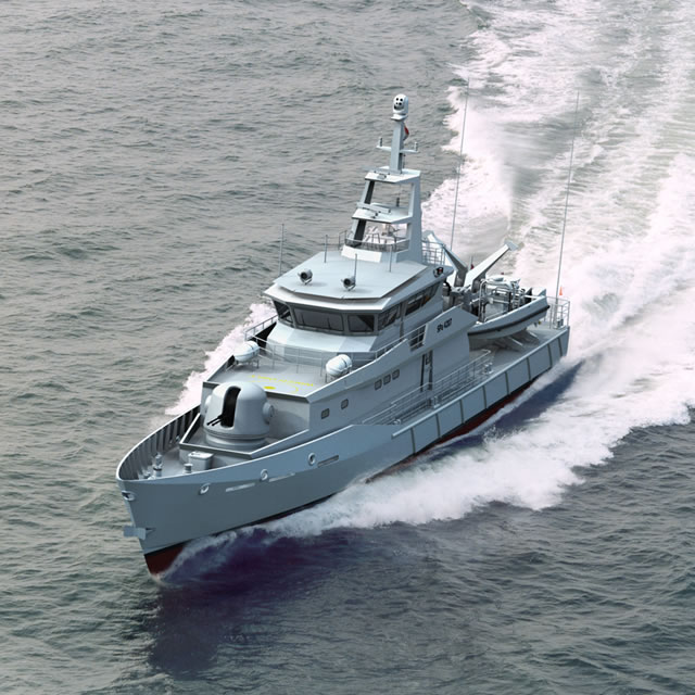 In the first week of August the Mexican Navy (Secretaria de Marina) and Damen Shipyards Group signed a contract for a fourth Damen Stan Patrol 4207. The Dutch ship design and shipbuilding company will supply the Mexican Navy with the design and material package with which ASTIMAR 1 (the Mexican Navy yard in Tampico) will build the patrol vessel. In addition, Damen will assist ASTIMAR 1 with technical support in order to optimize the delivery time and quality of the vessel.