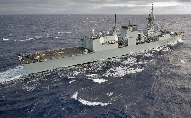 The 12 Halifax-class frigates, commissioned between 1992 and 1995, form the backbone of the Royal Canadian Navy. The ships were originally designed to accomplish the Cold War missions of anti-submarine warfare and anti-surface warfare, primarily in the open ocean environment.