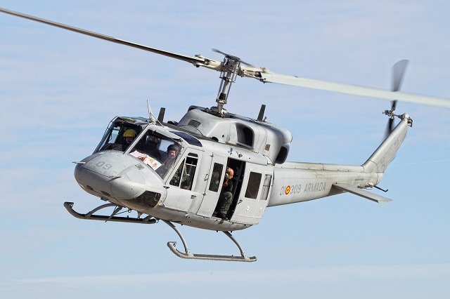 On December 17, the helicopter used as prototype in the AB212 Helicopter Life Extension Program of the Spanish Navy (PEVH-AB212) took to the air for its first test flight. This flight is the first in a series of tests approved by the INTA (National Institute for Aerospace Technology), which were authorized through special experimental airworthiness certification (CAE in its Spanish acronym).