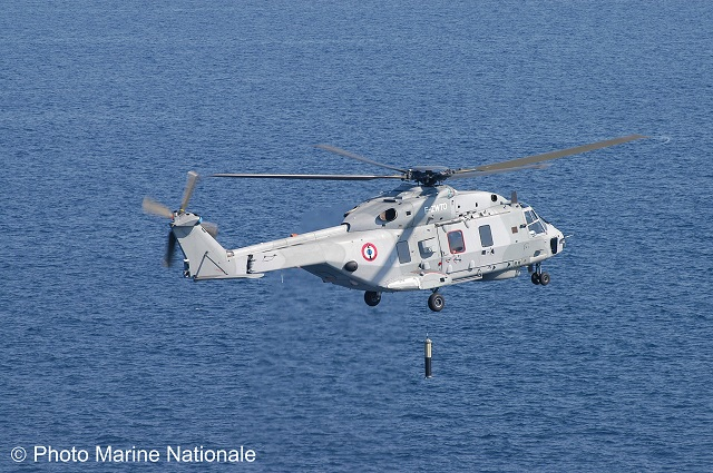 Paris Air Show, 19th June 2013 – During the three-month long deployment of the FREMM frigate Aquitaine, the implementation crew for the NH90 helicopter from 33F Squadron had an opportunity to experience the operational capabilities of the FLASH SONICS system.