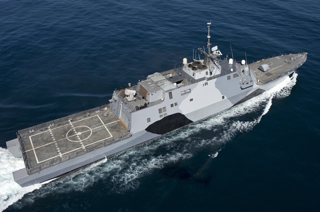 Wichita is a flexible Freedom-variant LCS that will be designed and outfitted with mission systems to conduct a variety of missions including anti-surface warfare, mine countermeasures and submarine warfare. The industry team building Wichita has delivered two ships with six others in various stages of construction and testing. The nation's first LCS, USS Freedom, completed a U.S. Navy deployment in 2013, and USS Fort Worth (LCS 3) is currently deployed for 16 months to Southeast Asia. These two deployments demonstrate how the ship class is addressing the U.S. Navy's need for an affordable, highly-networked and modular ship unlike any other in the world.