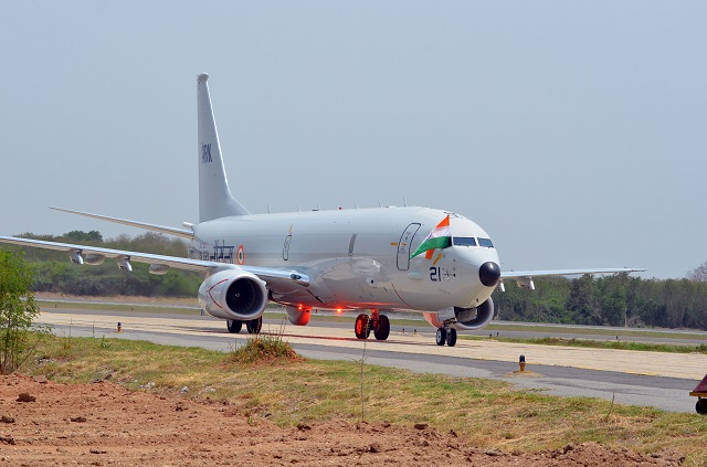 The first Boeing P-8I long-range maritime reconnaissance and anti-submarine warfare aircraft arrived today, on schedule, at India Naval Station Rajali. The P-8I is one of eight aircraft Boeing is building for India as part of a contract awarded in 2009.