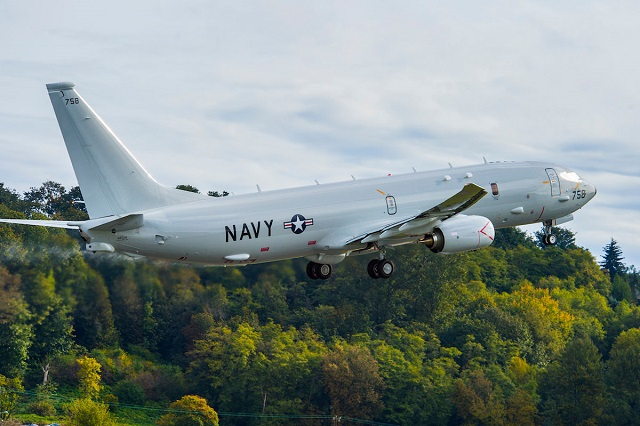 aircraft to the U.S. Navy ahead of schedule October 14, where it joined other Poseidon aircraft being used to train Navy crews. The P-8A departed Boeing Field in Seattle for Naval Air Station Jacksonville, Fla., and was Boeing's fifth delivery this year.