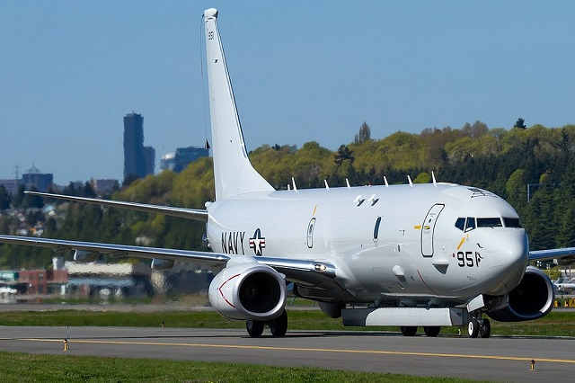 A U.S. Navy P-8A Poseidon maritime patrol aircraft was recently spotted at the Boeing headquarter's in Seattle conducting tests (including flight tests) with Raytheon's Advanced Airborne Sensor (AAS) fitted under the aircraft. Based on the existing AN/APS-149 Littoral Surveillance Radar System (LSRS), the AAS is designed to detect moving targets both on the surface of water and on land.