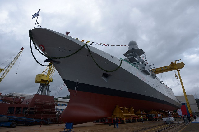 "Today Riva Trigoso (Genoa) shipyard celebrated the launch of the frigate ""Alpino"", the fifth of a series of 10 FREMM vessels - Multi Mission European Frigates, ordered from Fincantieri by the Italian Navy within the framework of an Italo-French program of cooperation."