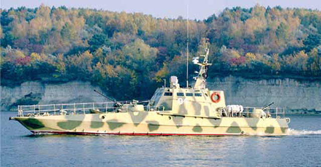 "The Commander of the Naval Forces of Ukraine Vice-Admiral Sergei Haiduk confirmed that public company plant ""Leninska Kuznya"" resumed the construction of ""Gyurza-M"" armored boats for the river division of the Ukrainian Navy which temporarily based in Odessa."