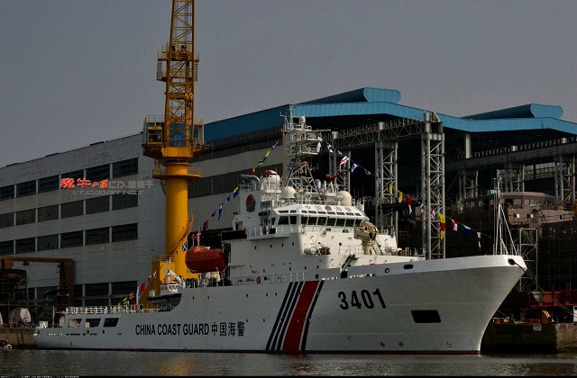 A newly built patrol vessel was commissioned for the China Coast Guard (CCG) South China Sea fleet on Friday. The CCG-3401, with a displacement of 4,000 tonnes, is a multi-functional vessel equipped with advanced law enforcement facilities and is able to meet the need for marine law enforcement tasks, according to the Chinese State Oceanic Administration.
