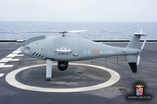 The Italian Navy (Marina Militare) announced it started a technical evaluation campaign of the CAMCOPTER S-100 VTOL UAV produced by the company Scheibel onboard the San Giusto (L89894), a San Giorgio class LPD.