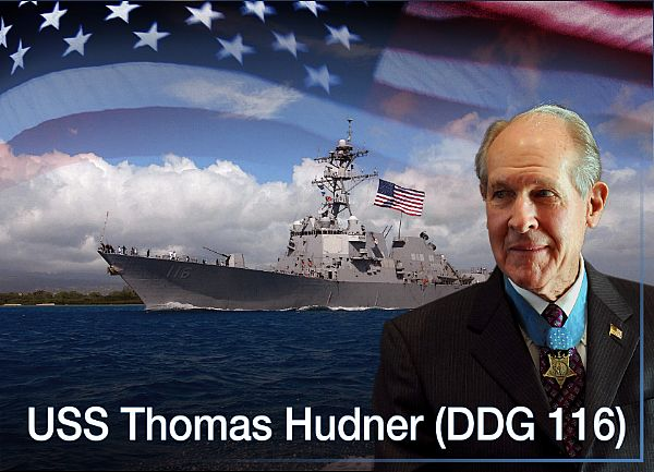 On November 16, General Dynamics Bath Iron Works held a keel-laying ceremony for the Thomas Hudner (DDG 116), the company's 36th Arleigh Burke-class guided-missile destroyer. The ship is named for Captain Thomas Hudner Jr., U.S. Navy (ret.), a Korean War aviator and Medal of Honor recipient.