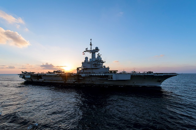 Truman and embarked Carrier Air Wing (CVW) 7 join French nuclear powered aircraft carrier FS Charles De Gaulle (R 91) in conducting combined combat operations in Iraq and Syria from the Arabian Gulf.