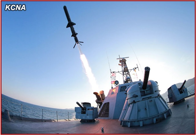 The Korean Central News Agency (KCNA), the state news agency of North Korea, released a series of pictures showing the Korean People's Army (KPA) Navy test launching a new type of anti-ship missiles from a Surface Effect Ship (SES). The new indigeneously developped missile shares a close ressemblance with the Russian made Kh-35 (Uran or SS-N-25 Switchblade). It is the first time the missile and the SES are officialy revealed by North Korean media.