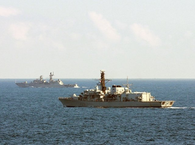 Royal Navy Type 23 Frigate Tracked and Monitored Russian Neustrashimy class Frigate