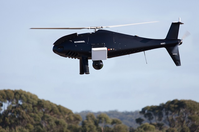 Schiebel´s CAMCOPTER® S-100 Unmanned Air System (UAS) has in a series of flights between 2 and 12 June 2015 successfully demonstrated its multi- sensor capability to the Royal Australian Navy (RAN) and other Australian Government Departments.