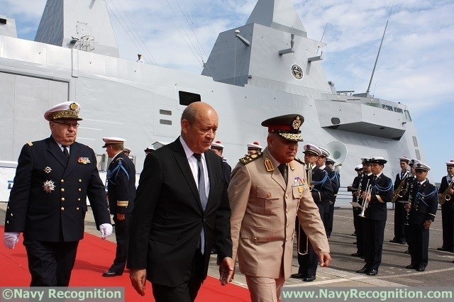 France handed over the FREMM Multi-Missions frigate Tahya Misr (meaning Long Live Egypt) with hull number 1001 to the Egyptian Navy during a ceremony held June 23rd at the DCNS shipyard of Lorient in Brittany. Egypt becomes the second FREMM export customer for DCNS following Morocco which commissioned the Mohammed VI frigate in 2014.