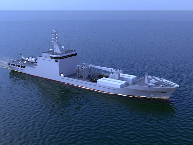 "Conceptual image: Replenishment Tanker (Zbiornikowiec codename ""Supply"")"