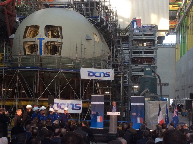 Australia minister DCNS CEO Cherbourg 1