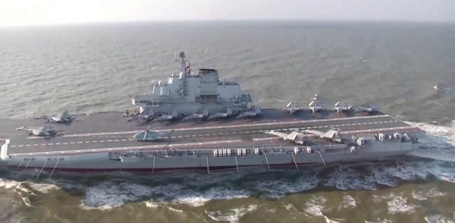 PLAN Liaoning aircraft carrier first islands chain west pacific 3