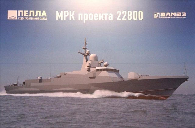 Project 22800 Corvette Uragan Typhoon Pella Russian Navy