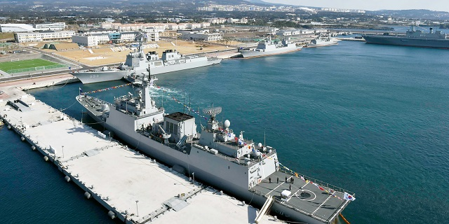 The Republic of Korea (ROK or South Korea) Navy announced it has officially opened its new naval base on the southern resort island of Jeju. Jeju island is strategically located in a sea passage connecting the East China Sea and the Sea of Japan (East Sea) in the northwest Pacific Ocean. According to the ROK Navy, it took the country 23 years and more than 1 trillion won (US$806 million) to complete construction of the base.