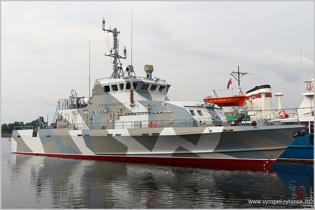 "The Vympel Shipyard in Rybinsk in central Russia has floated out the second Project 21980 Grachonok anti-sabotage boat, the shipyard's press office said. ""A solemn ceremony of floating out the Project 21980 boat (factory number No. 01222) took place at the shipyard. This is the second out of four anti-sabotage boats the Vympel Shipyard is currently building under a contract signed with the Defense Ministry,"" the press office said."