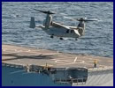 "The French Navy (Marine Nationale) announced that two US Marine Corps V-22 Osprey tilt-rotor aircraft conducted a series of ""touch and go"" and refuelling aboard Mistral class LHD Tonnerre on March 19 2016. While V-22s have been tested with the Mistral class several times to date (they were even officially qualified with the Mistral class last year) it is the first time that a back-to-back refuelling of two Ospreys (with engines running) was performed."