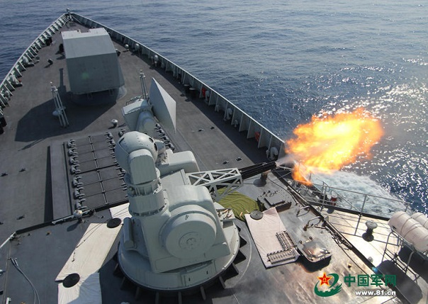 Based on pictures that have just been released by Chinese spotters, it appears that the People's Liberation Army Navy (PLAN or Chinese Navy) next in-line Type 052D Destroyers (NATO reporting name Luyang III class) will be fitted with the H/PJ-11 close-in weapon system (CIWS) instead of the smaller H/PJ-12 currently fitted on existing vessels of the class.