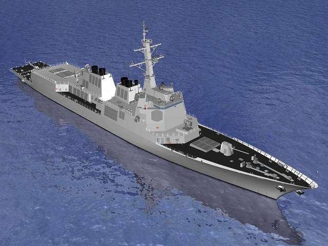 "South Korea's Defense Acquisition Program Administration (DAPA) announced last week that Hyundai Heavy Industries (HHI) was selected as contractor for ""KDX-III Batch-II Design and construction of the first hull"". The existing 7,600-ton KDX-III Batch I Aegis destroyers of the Republic of Korea Navy (ROK Navy) are based on the DDG 51 class of the US Navy."