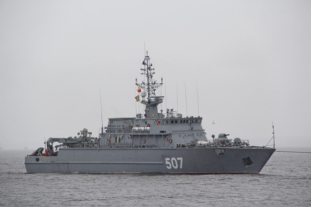 The Sredne-Nevsky Shipyard (SNSZ, a subsidiary of the United Shipbuilding Corporation) carries on building the second production-standard Project 12700 minesweeper, according to the shipyard's press office.