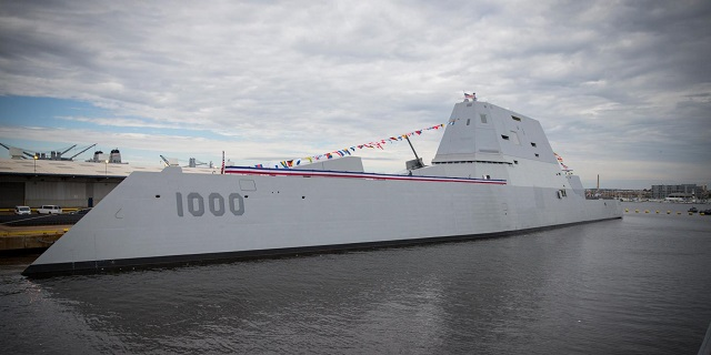 USS Zumwalt DDG 1000 Destroyer commissioned