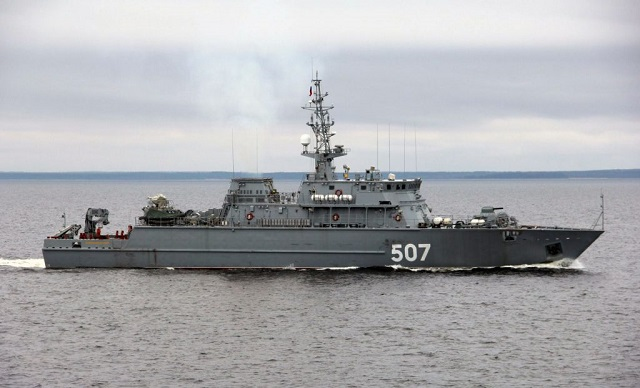 The Project 12700 Alexandrit-class lead mine sweeper Alexander Obukhov currently under construction for the Navy at the Sredne-Nevsky Shipyard in St. Petersburg in northwest Russia has started undergoing state trials, the shipyard's press office said.
