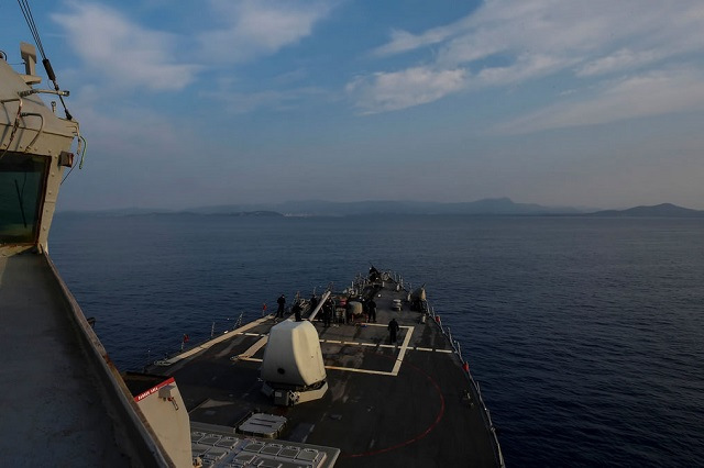 TOULON, France (Sept. 13, 2016) USS Ross (DDG 71) pulls into Toulon, France Sept. 13, 2016. Ross, an Arleigh Burke-class guided-missile destroyer, forward-deployed to Rota, Spain, is conducting naval operations in the U.S. 6th Fleet area of operations in support of U.S. national security interests in Europe and Africa. (U.S. Navy photo by Mass Communication Specialist 1st Class Theron J. Godbold/Released)