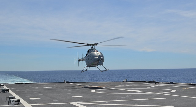 MQ-8C Fire Scout Completes Successful First Flight from a Littoral Combat Ship