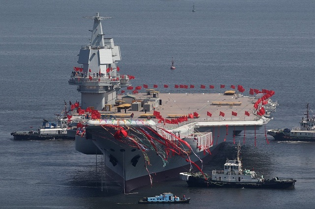 China Launched its First Home-Made Aircraft Carrier for PLAN