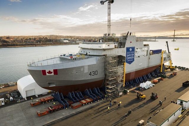 First Arctic and Offshore Patrol Ship RCN Irving Canada AOPS