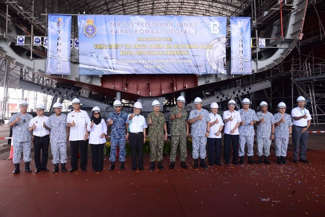 Keel Laying 3rd Gowind LCS SGPV Malaysia TLDM 2
