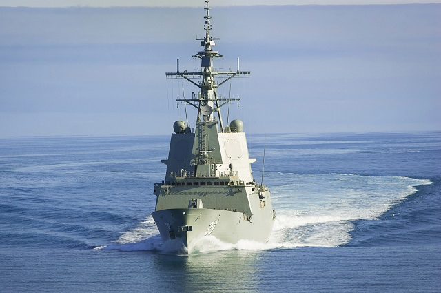 AWD Hobart RAN sea accept trials 1