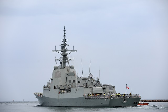 AWD Hobart RAN sea accept trials 2