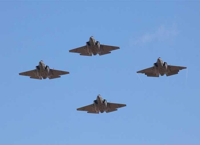 Four F 35C NAS Lemoore VFA 125 US Navy