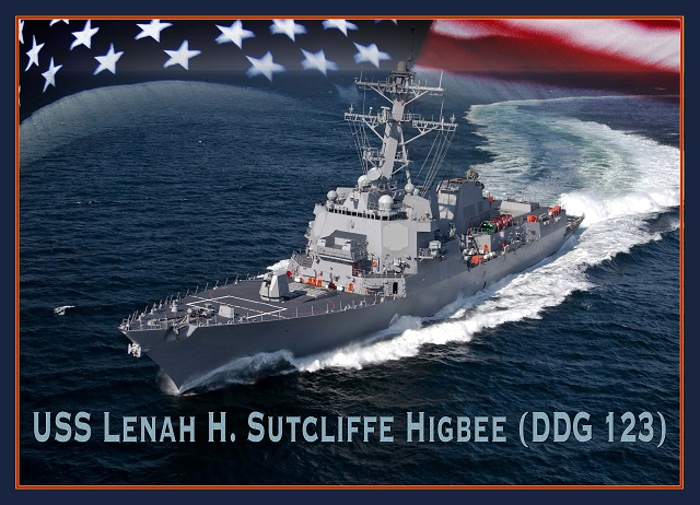 guided missile destroyer USS Lenah H Sutcliffe Higbee DDG 123