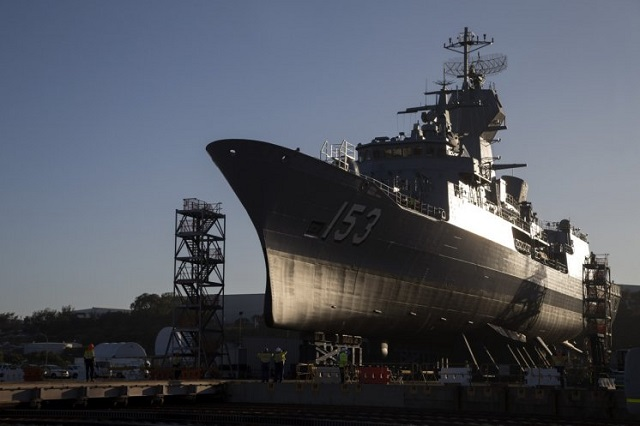 Last Australian Navy ANZAC-class Frigate Receives Anti-Ship Missile Defence Upgrade