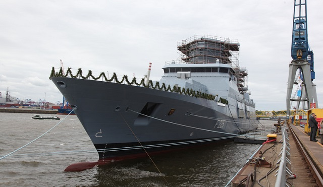 Fourth & Final Germany Navy F125-class Frigate Rheinland-Pfalz Christened in Hamburg