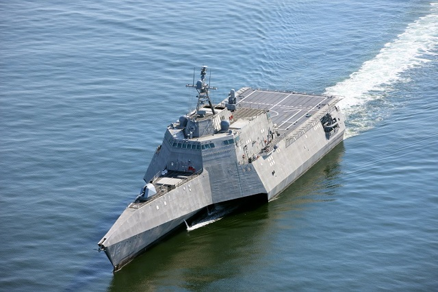 Future Independence-class LCS USS Omaha Completes Acceptance Trials