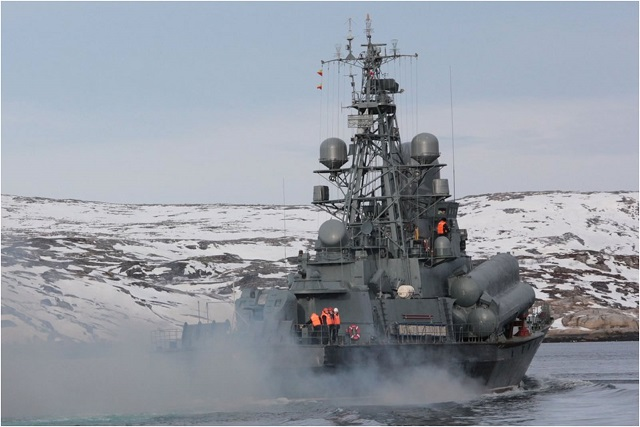 Russian Navy Project 12341 small missile ship Rassvet 1